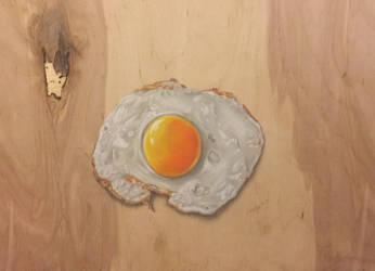 Photorealistic 3D eg on woodboard by Saules-dievas