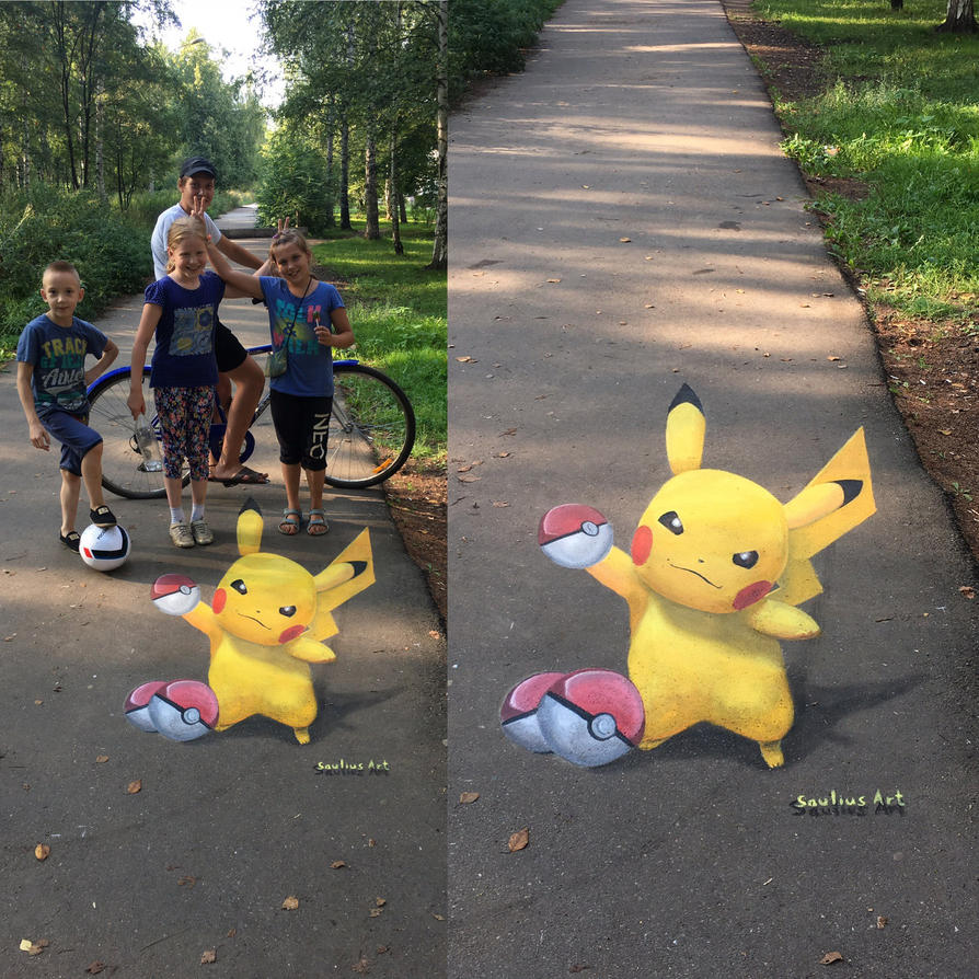 Pokemon Go 3d Street fan art by Saulius Art by Saules-dievas