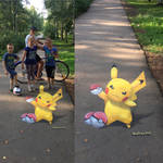 Pokemon Go 3d Street fan art by Saulius Art by Saules-dievas