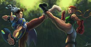 Chun LI VS Cammy by FabianLeonardo