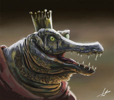 King K Rool or an Alligator doing cosplay?