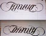 Ambigram - Forever family
