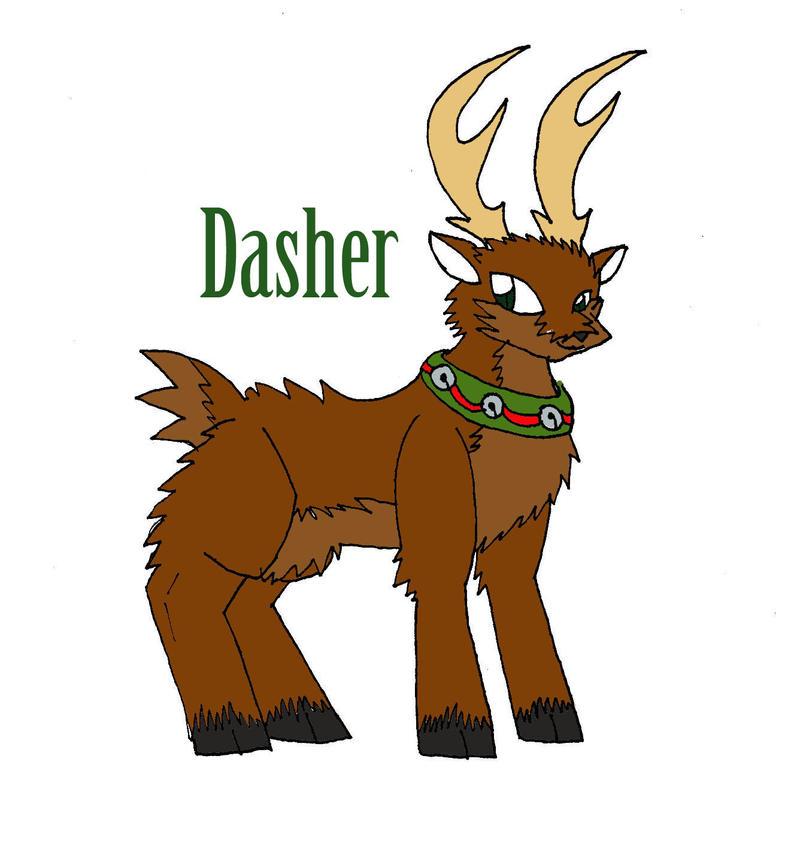 Santa's Reindeer Dasher by eomonmoonbertlotanis on DeviantArt