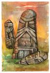 warriors in stone