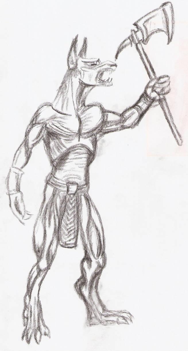 Anubis sketch 1