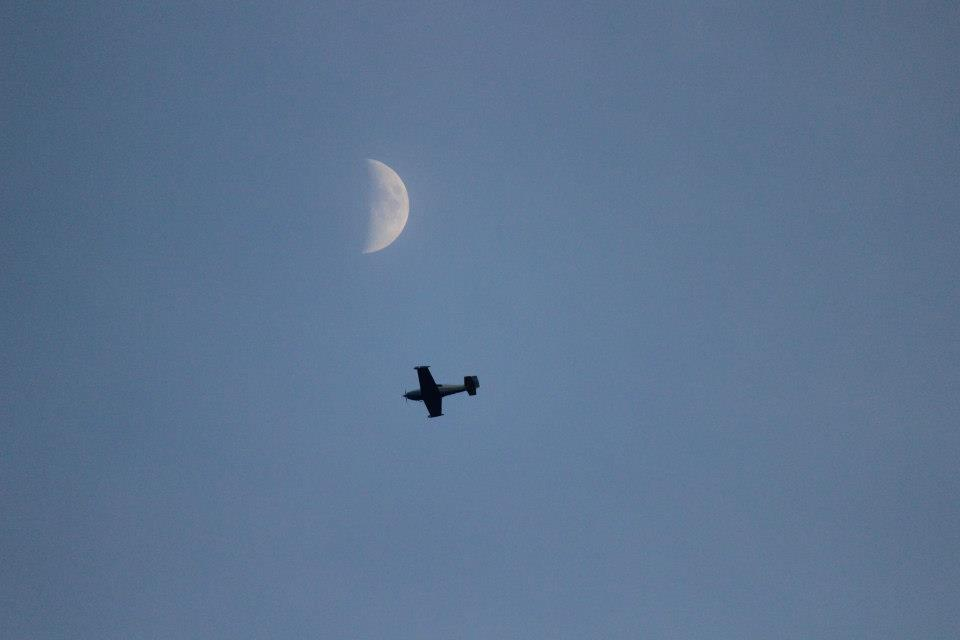 Moon by plane. by sweatangel