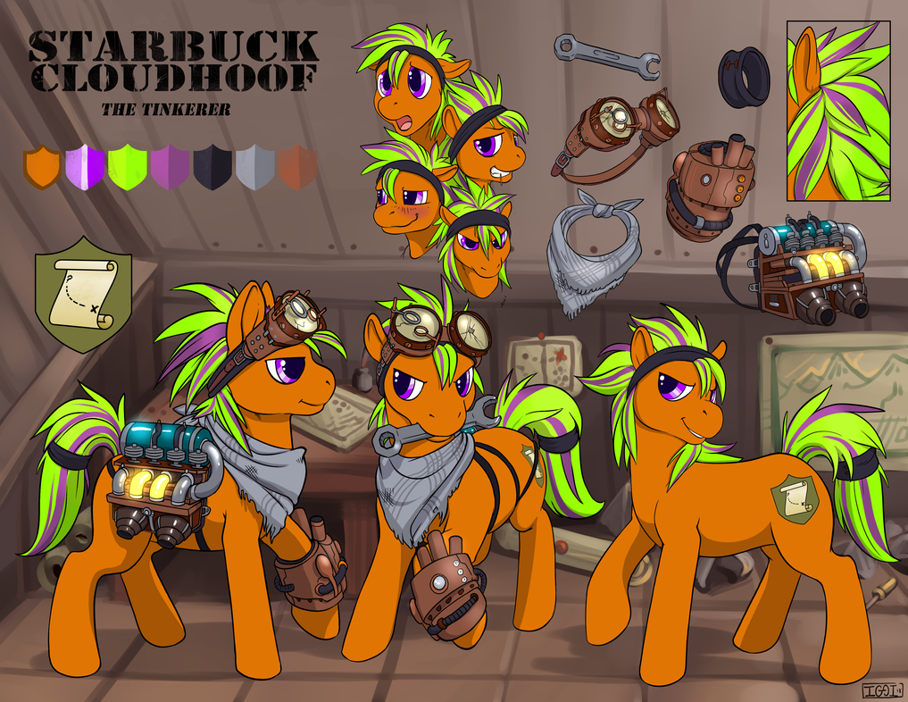 Tinkerer Starbuck Cloudhoof Reference (Full) by StarbuckCloudhoof