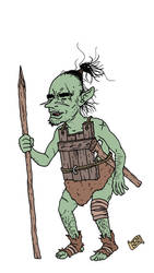 Orc with a spear by pfendino