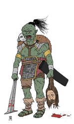 Orc Commander by pfendino