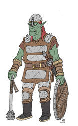 Orc Warrior by pfendino