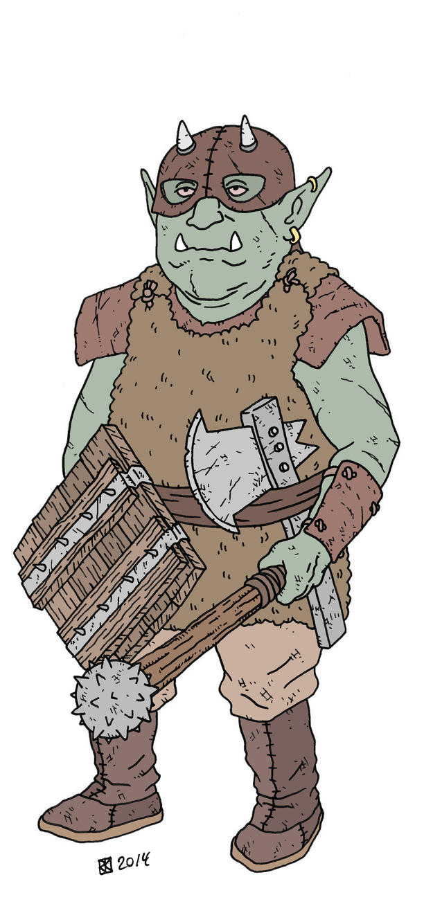 Orc with shield by pfendino