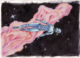 Floating Free: Echo Blue by EvaneyReddeman