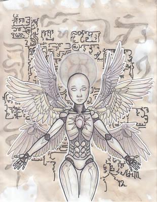 Transhuman Transcendental with Pigeon by EvaneyReddeman
