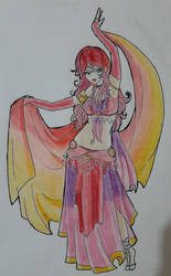 Belly Dancer Coloring Lineart