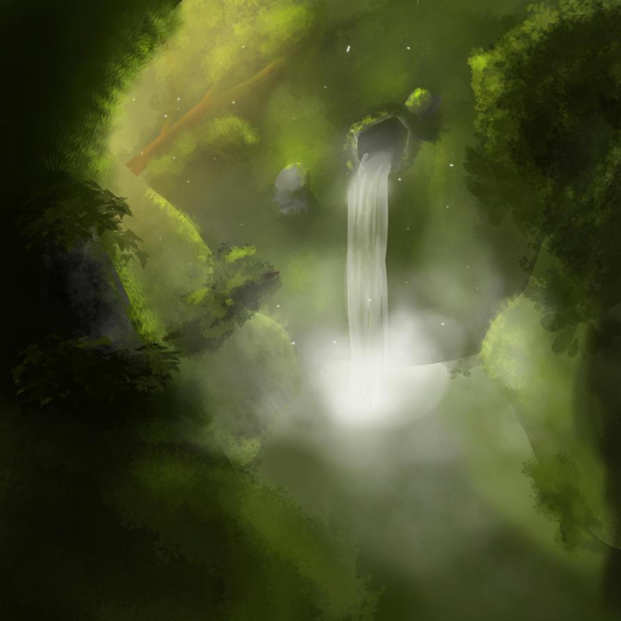Little waterfall speedpaint by MotherOfDrawings
