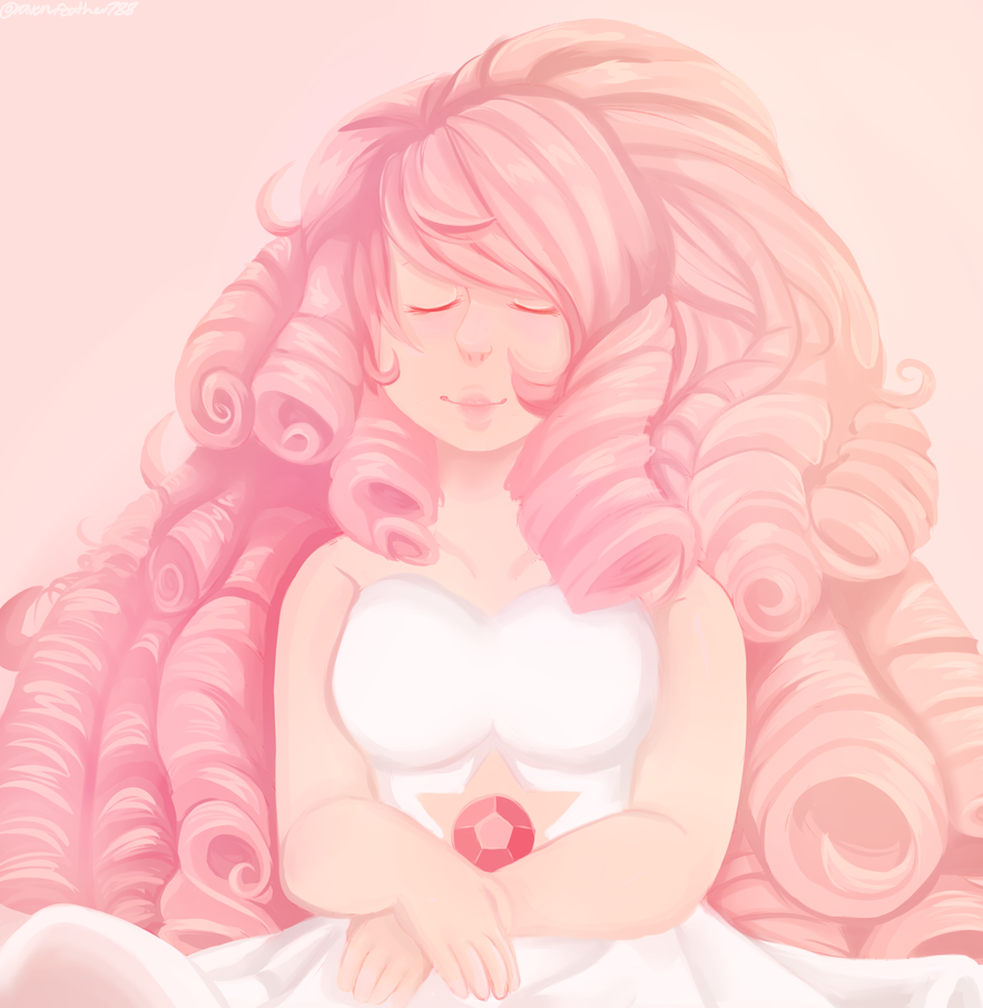 I like just finished binge watching ALL of Steven Universe so far and I LOVE IT. I love the painting of rose in the temple and I wanted to do my own version of it and I really like how this came ou...