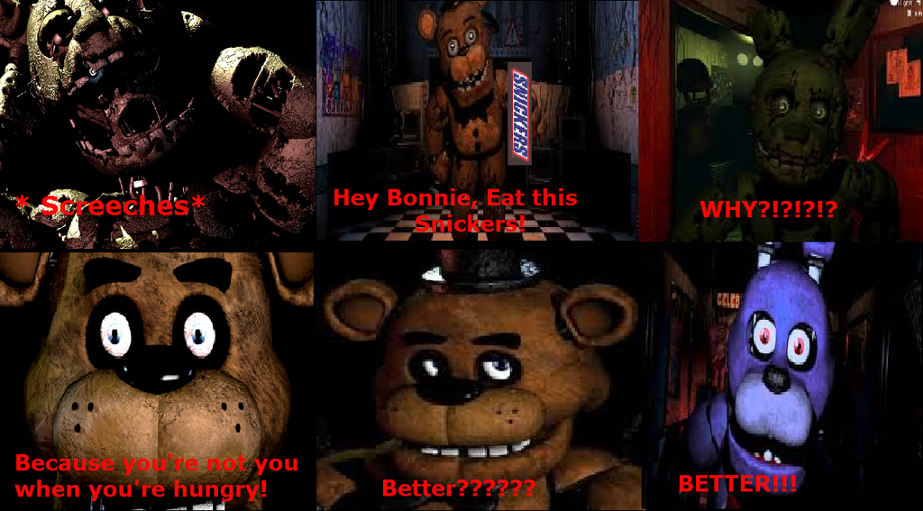 Fnaf snickers comic strip by gfcrazy d8vlspo by enderman12254 on