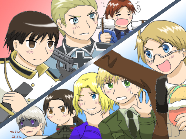 hetalia coloring pages allies - photo#27