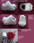 white fox fursuit feet paws