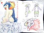 typhlosion fursuit concept sketches