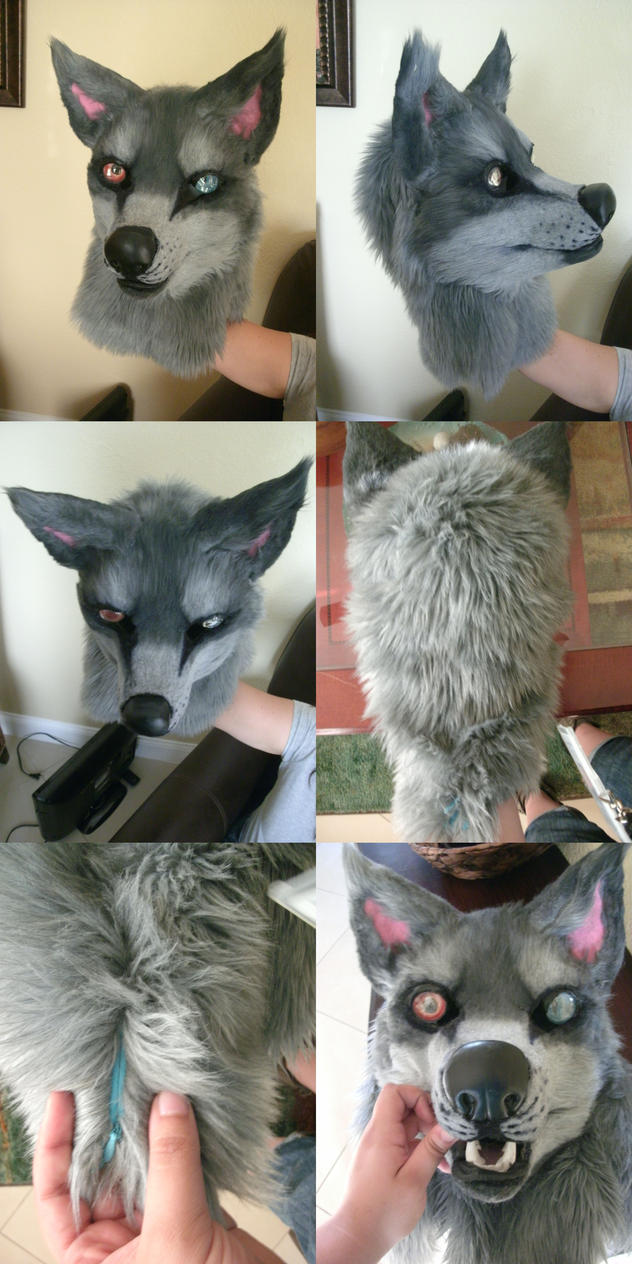 mariki fursuit head commission by AlieTheKitsune