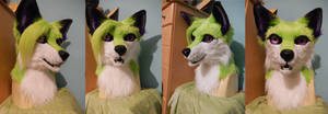 Green Fox Head