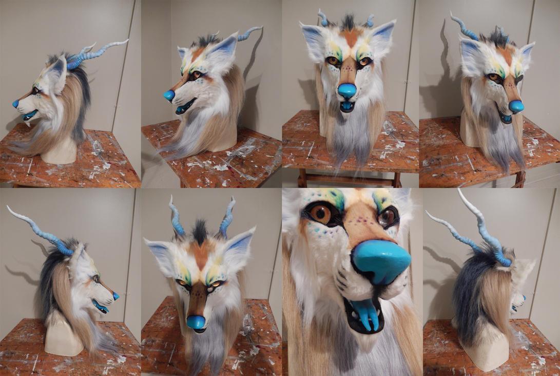 dragon dog head FOR SALE by AlieTheKitsune