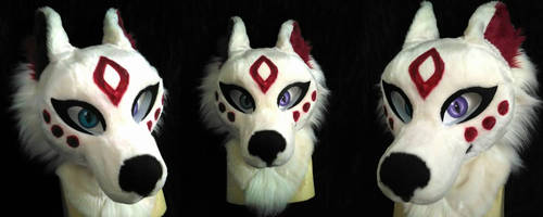 Kuriji Fursuit Head Commission by AlieTheKitsune