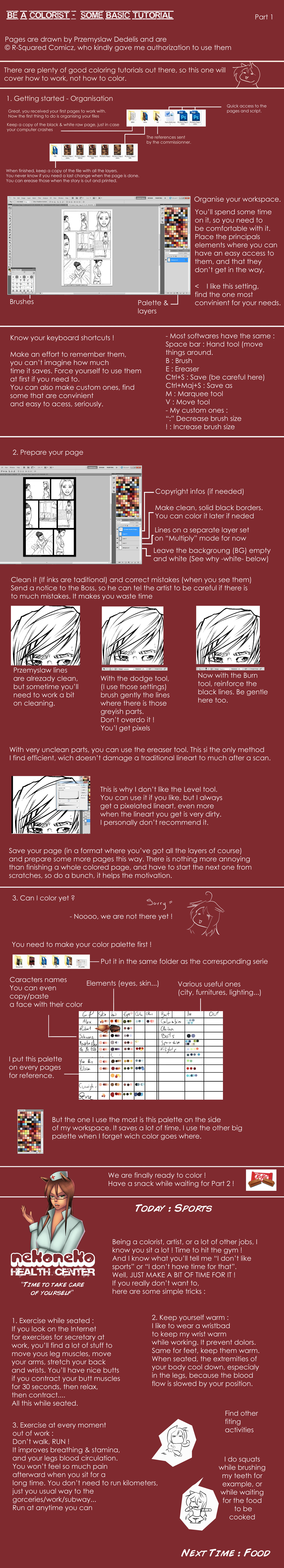 Comics coloring + Health Basic tutorial - pt1 by x-Nekopunch-x
