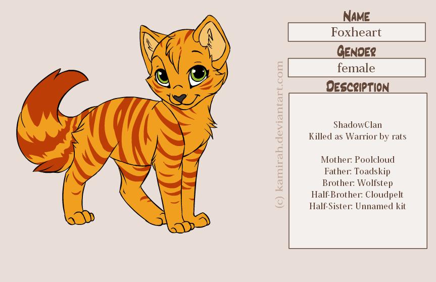 Foxheart Warrior Cat