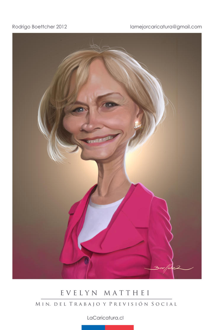 CARICATURA EVELYN MATTHEI by LaCaricatura