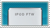 Deviant Stamp : iPod FTW by Ellmer