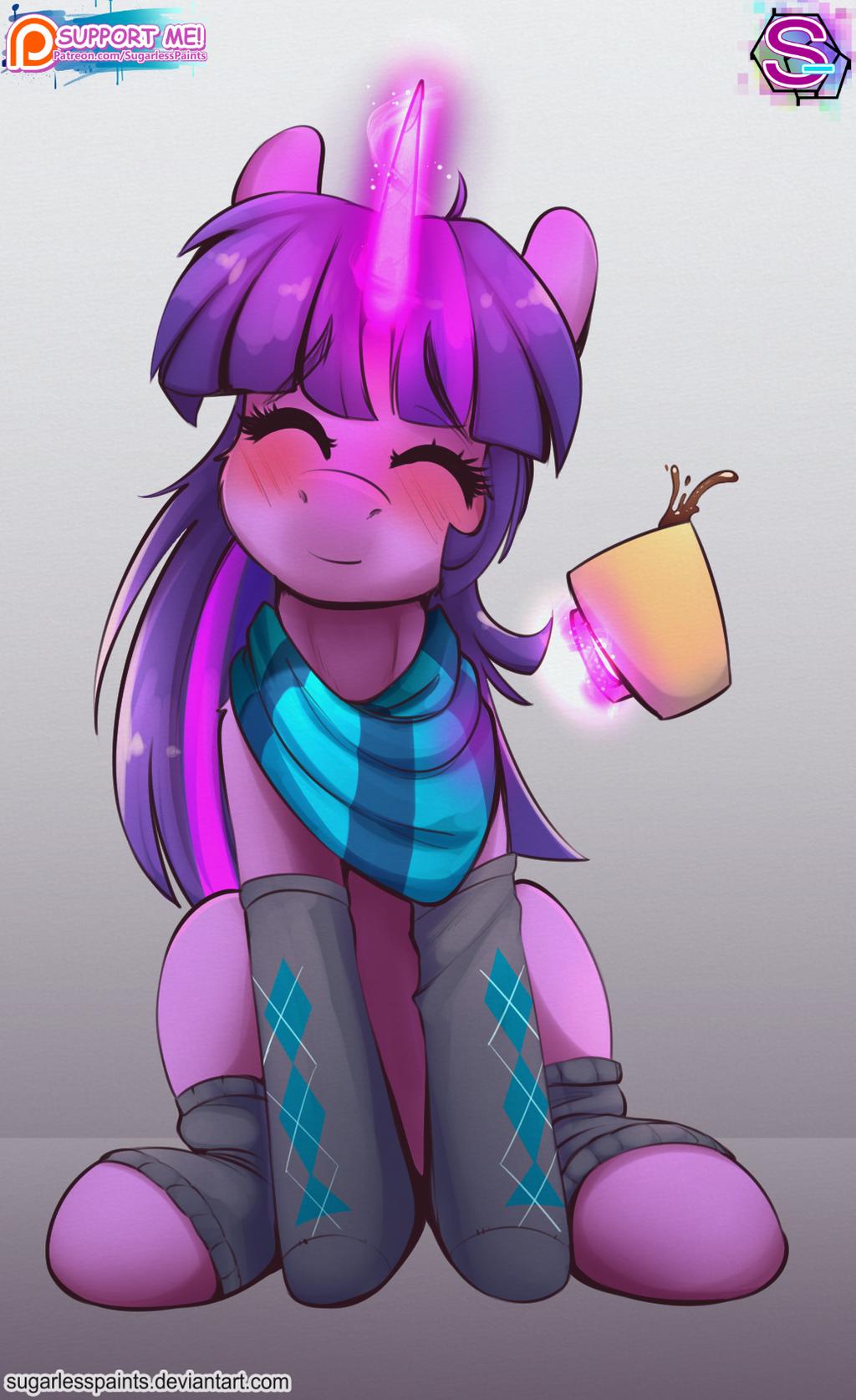 Twilight unicorn (Patreon sketch comish) by SugarlessPaints