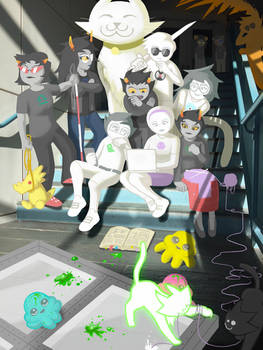 Homestuck Drawn into Photos: The Stairwell