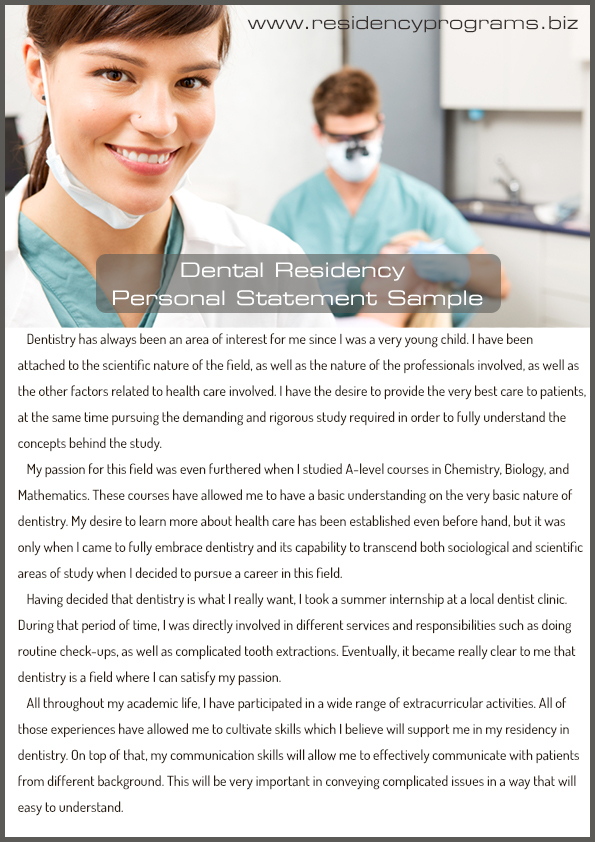 passion dentistry essay