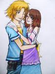 Mini Tidus and Yuna