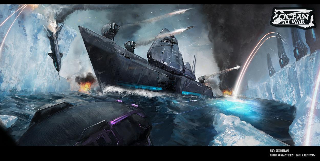 Ocean At War - Concept Art by zeedurrani