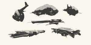 Spaceship Thumbnails Sketch 06032017