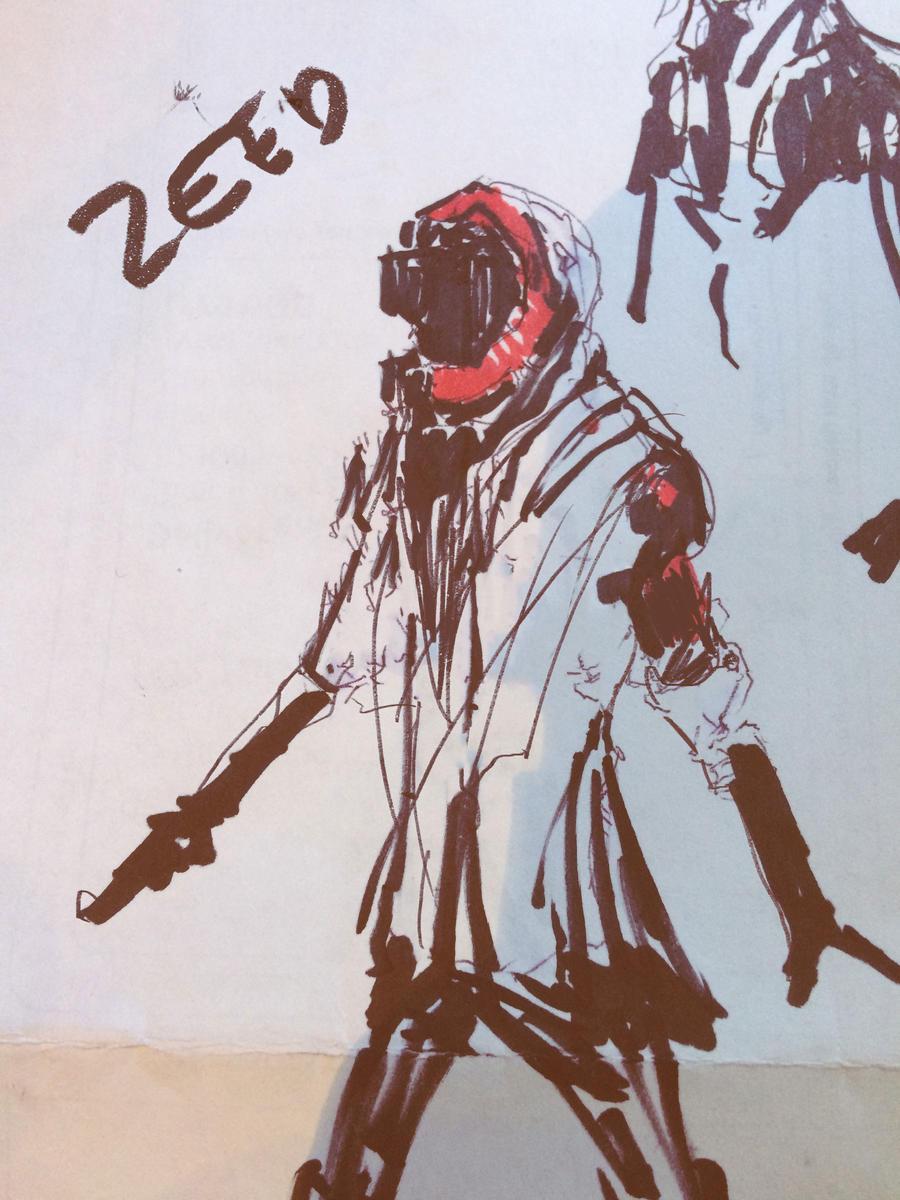 Cyberpunk Sketch 09032017 by zeedurrani