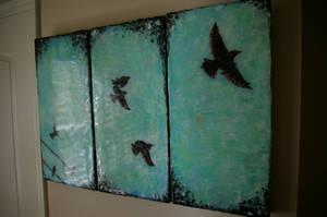 Birds Triptych by thirdeyeblind