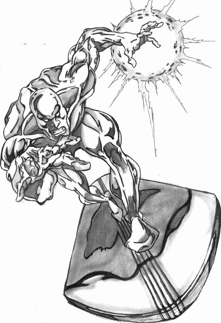 Marvel Silver Surfer Coloring Pages