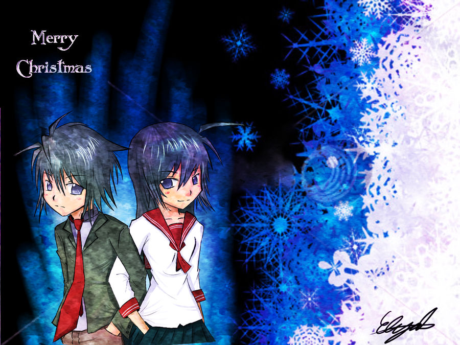 Anime Merry Christmas.Merry Christmas Anime By Nexxd On Deviantart