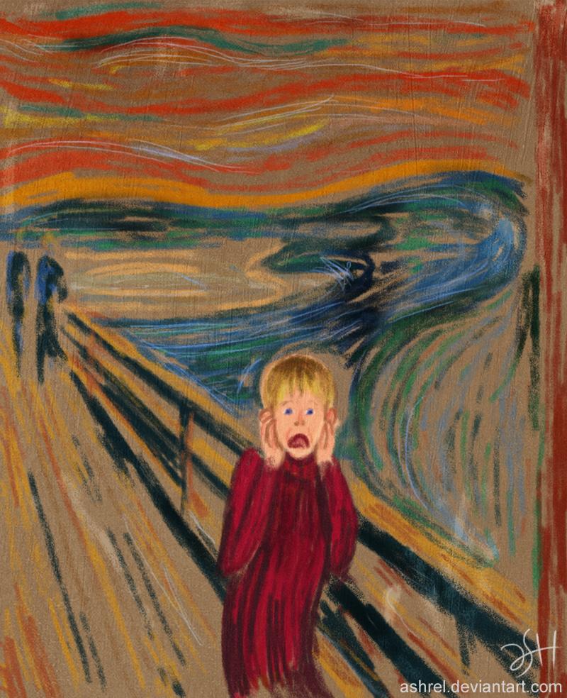 The Scream: Alone by ashrel