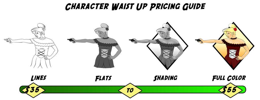 Waist Up Pricing by Kenjamin-Art-Design