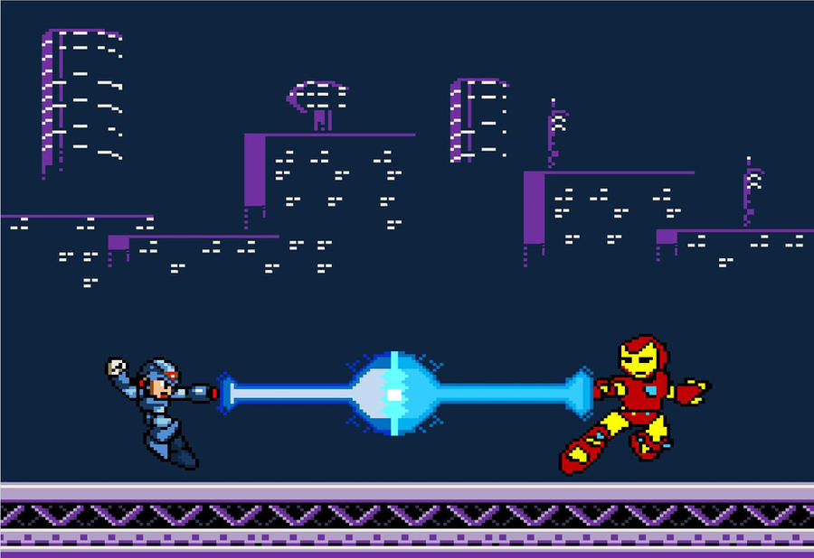 8 bit robo battle by donkeykonggod