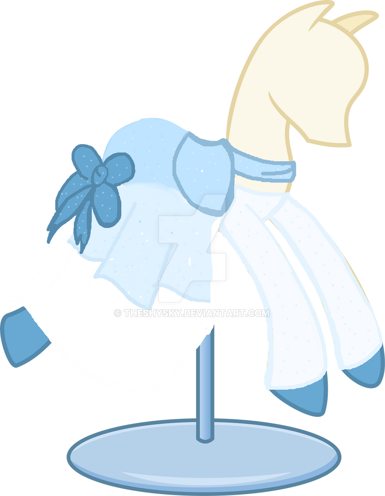 Mlp Winter Blue Dress By Theshysky On Deviantart