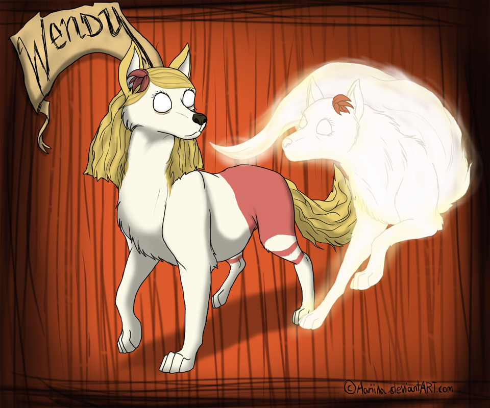 Dont Starve Wolves Wendy And Abigail By Aariina On Deviantart