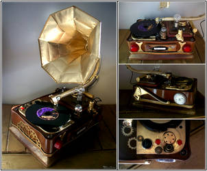 Steampunk Gramophone by SoundEater