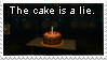 The cake is a lie. by Hossinfeffa
