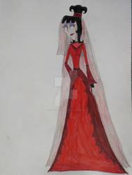 Lydia Deetz's Wedding Dress by VioletRose13-Art